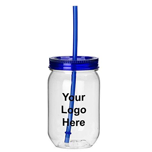 Mason Jar Tumbler - 20 Quantity - $3.75 Each - PROMOTIONAL PRODUCT / BULK / BRANDED with YOUR LOGO / CUSTOMIZED