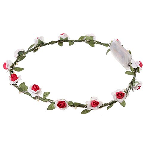 LED Light Flora Crown Women Floral Headbands Glowing Flower Headband for Party