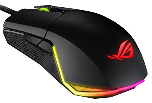 ASUS ROG Pugio Aura RGB USB Wired Optical Ergonomic Ambidextrous Gaming Mouse