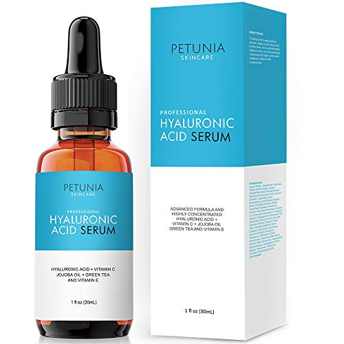 (Best Hyaluronic Acid Serum with Vitamin C For Face Deeply Hydrate and Plump Dry Skin, Boost Collagen Hydration, Diminish Fine Lines and Wrinkles With Our Anti Aging Natural Vegan Friendly Product, 1 f)