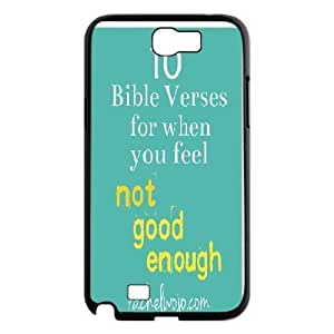 Bible Series, Samsung Galaxy Note 2 Cases, 10 Bible Verses for When You Feel not Good Enough Cases for Samsung Galaxy Note 2 [Black]