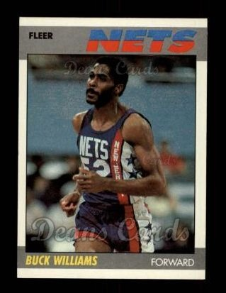 38b1c0cd1 1987 Fleer   120 Buck Williams New Jersey Nets (Basketball Card) Dean s  Cards 8