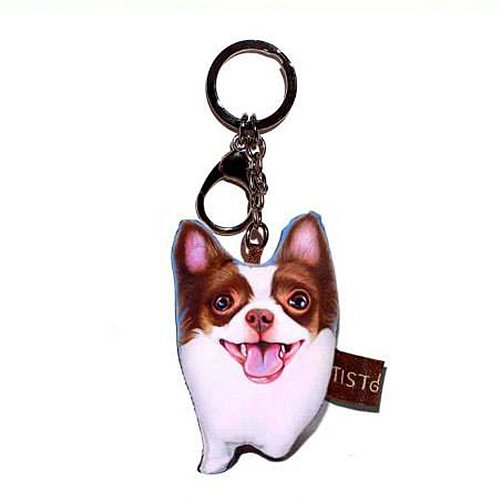 Sansukjai Key ring Key chain Chihuahua Fabric Dog lover High 10 - Tiffany Store Usa Locator