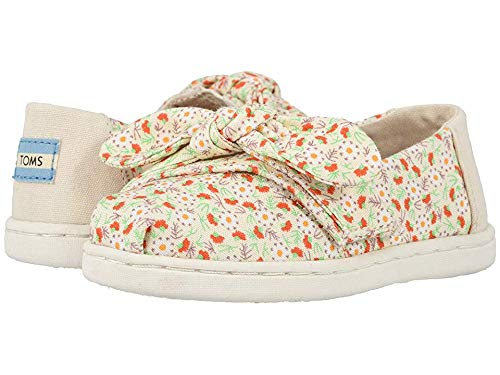 TOMS Kids Baby Girl's Alpargata (Toddler/Little Kid) Birch Local Floral Print/Bow 11 M US Little Kid (Best Cheap Bows 2019)