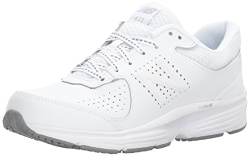 New Balance Women's WW411v2 Walking Shoe, White, 7.5 D US