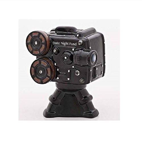 Roman General Collections 6.25 inches High Date Night Fund Bank Movie Projector -