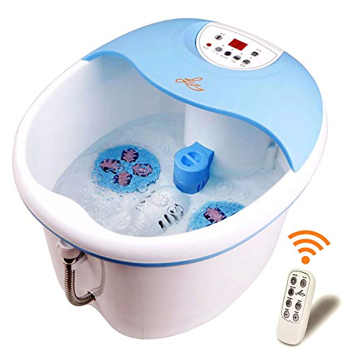 LLETT All in one deep Foot & Leg spa Bath Massager Motorized Rolling Massage, Heat, Wave, O2 Bubbles, Digital Temperature Control LED Display LL-7216