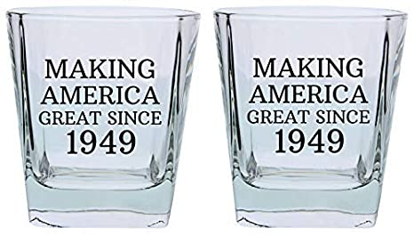 70th Birthday Gifts For Grandpa Grandma Making America Great Since 1949 Party Supplies Square