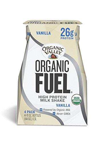 Organic Valley, Organic Fuel, Organic Milk Protein Shake, Vanilla, 11oz, 4 Pack