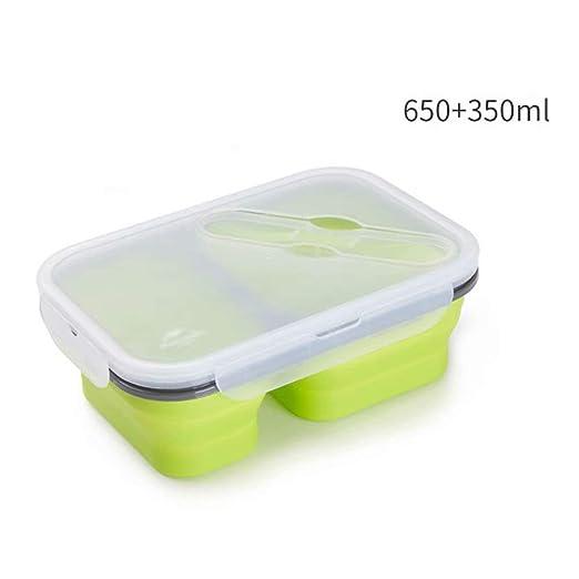 GL-Home Fiambrera de Silicona Portátil Plegable Plegable ...