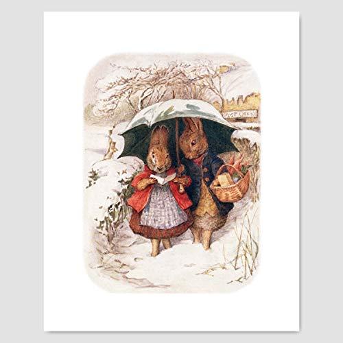 Peter Rabbit Print (Beatrix Potter Art. Nursery Baby Wall Decor)