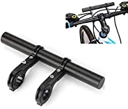 Buwico Aluminum Alloy Bicycle Handbar Extender 20CM Double Handbar Extension Rack for Holding Flashlight Speed