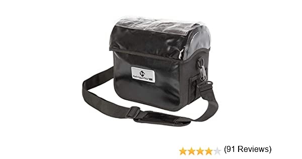 M-Wave 122715.0 Bolsa Manillar con Portamapas, Unisex, Negro, 22-31 mm: Amazon.es: Deportes y aire libre
