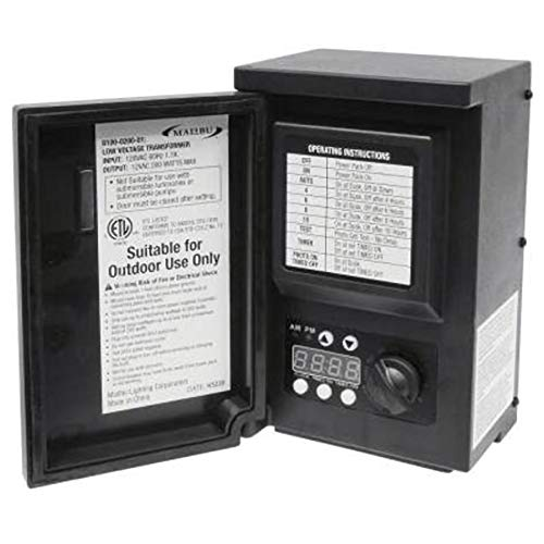 LED Malibu 8100-9120-01 120watt Outdoor Transformer Low Voltage Transformer with Digital Timer and Photo Eye