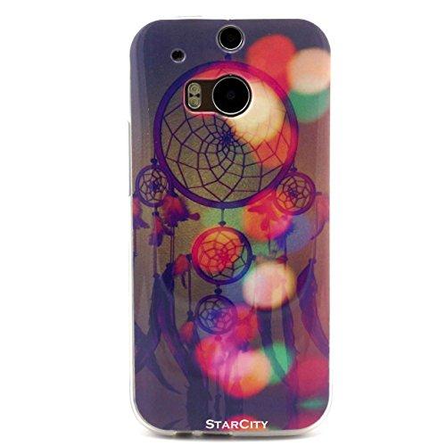 HTC One M8 Case, StarCity ® HTC One M8 (Model 2014) Case Flexible TPU Case Skin Gel [Shock Absorbent] Protective Cover Case (TPU Series_Dream)
