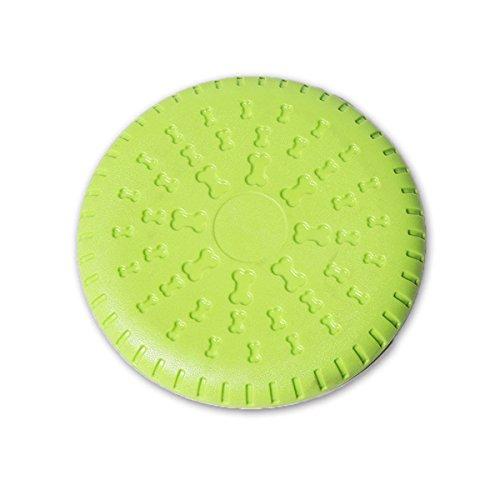 Noyal Dog Frisbee, Rubber Flyer Dog Flying Disc Dog Toys, 9 Inch Large (Flyer Disc)