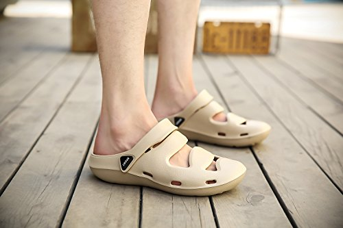 TORISKY Men's Women's Beach Sandals Water Shoes House Slippers Outdoor Clogs Brown mKyvlOKEjQ
