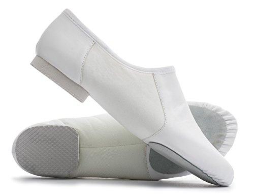 Chaussures Jazz Dancewear Tailles Modernes Les On Danse Pull Jive Practice Suede Katz Semelle De Toutes Cerco Pu Split Blanc 4qYcWH1vxn