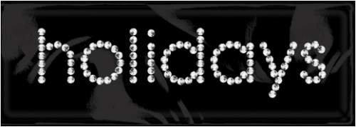 Rhinestone Word & Icon Stickers-holidays/crystal ()