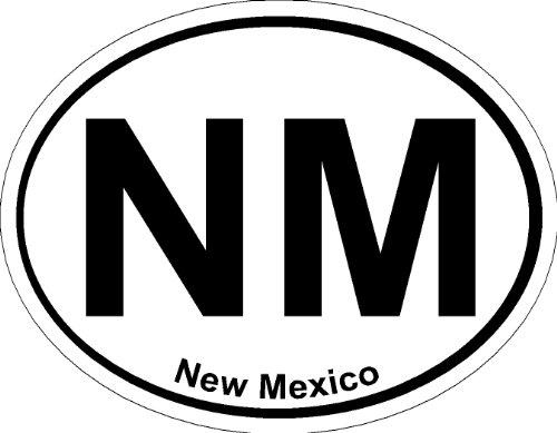 New Mexico Oval ; State Bumper Sticker