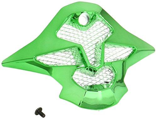 Shoie Chrome Green VFX-W With Screws Helmet Nose Cover / shield Cover (Wiz Nose)