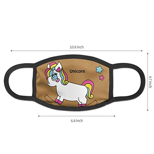 Yvette Cissie Un_icorn Anti Air Respirator Breathable Pollution Masks Carbon Activated Filtration Anti Bacterial Face Pollution Mask -Reusable Reusable Comfy