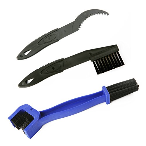 otorcycle Chain Cleaner Tool - Maintenance Kit -Gear Chain Cleaner (3 Tools) (Blue) ()