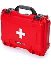 Nanuk 909 Waterproof First Aid Prepper Survival Gear Dust and Impact Resistant Case - Empty - Red - Made in Canada (909-FSA9)