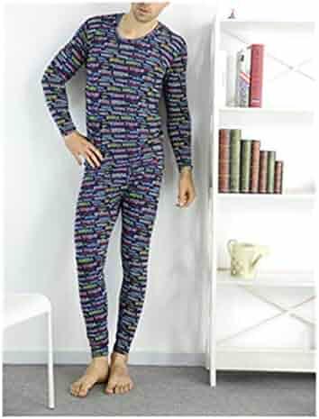 b78b72dfd Autumn Spring Style Plus Size 7XL 8XL 9XL Soft Print Long Johns Sets Men  Pajamas Suits