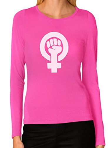 Tstars Protest Support Feminism Feminist Symbol Women Long Sleeve T-Shirt XX-Large Pink