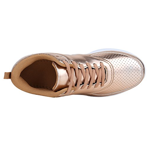 top Rose Gold Low Stiefelparadies Femme Glatt wBqaccv5