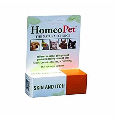 HomeoPet Skin and Itch (15 ml) Homeopathic Remedy for Dogs Cats and Birds by HomeoPet