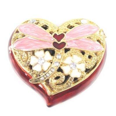 Puckator Heart Trinket Box w/ Dragon - 2 Apx Dragon
