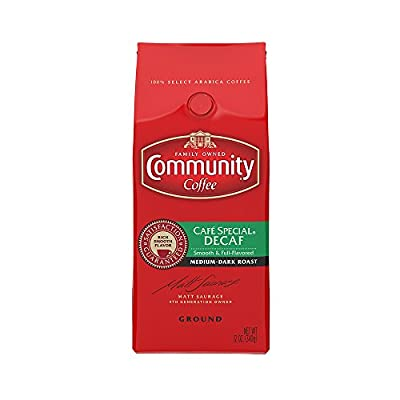 Community Coffee Ground Coffee, Cafe Special Decaffeinated, 12-Ounce Bags (Pack of 6)