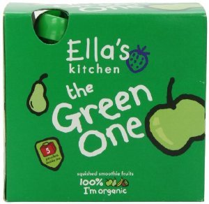 (12 PACK) - Ellas Kitchen - Smoothie Fruit - Green One mltpck | 5 x 90g | 12 PACK BUNDLE