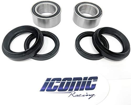 00-06 Honda Rancher 350 400 4x4 Fourtrax TRX350FE TRX350FM TRX400FA TRX400FGA BOTH Front Wheel Bearing & Seal Kits (4x4 Only) - Fit Front Wheel