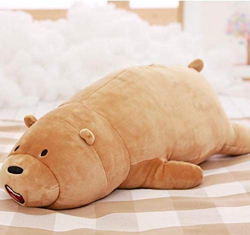 70cm Cartoon We Bare bears Lying Bear Stuffed Grizzly Gray White Bear Panda Plush Toys for Children Kawaii Doll for Kids Gift from Lavended
