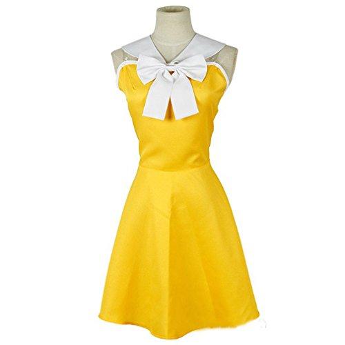 Levy Mcgarden Cosplay Costume (Cuterole Anime Fairy Tail Cosplay Costume Levy Mcgarden Yellow Dress Custom)