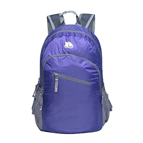 YEAHJOY 20L Outdoor Casual Lightweight Backpack Most Durable Packable Handy Hiking Daypack (Purple)