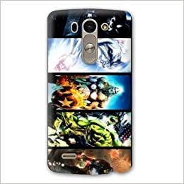 Amazon.com: Case Carcasa LG K10 superheros - - comics pele ...