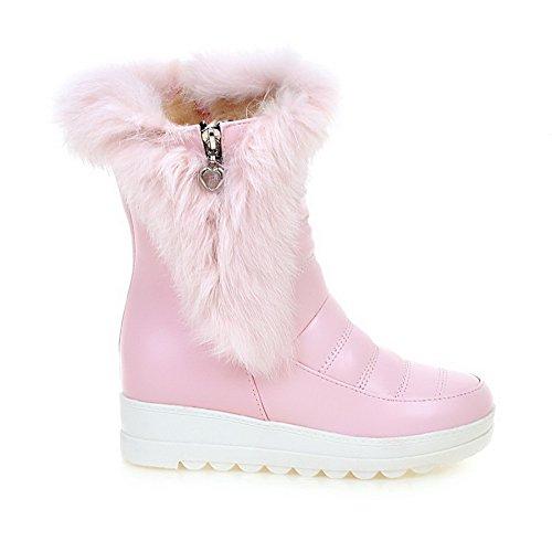 Casual Urethane Boots Boots On Pink Womens Pull BalaMasa qXwOBIX