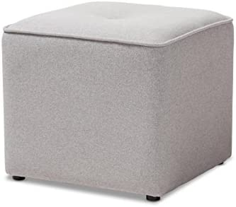 Baxton Studio Catalina Modern And Contemporary Fabric Upholstered Ottoman
