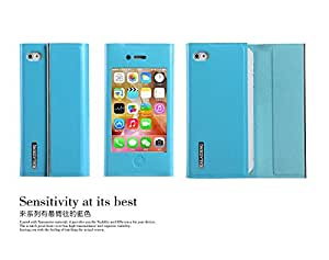 Blue Kalaideng 2014 New Design Leather Magnet Cover Skin Wallet Case For Candy Case - iPhone 4S 4