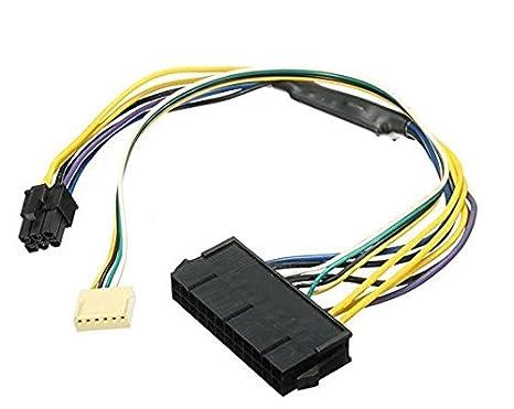 Xiton ATX PSU - Cable de alimentación 24P a 6P para HP Z220 Z230 ...