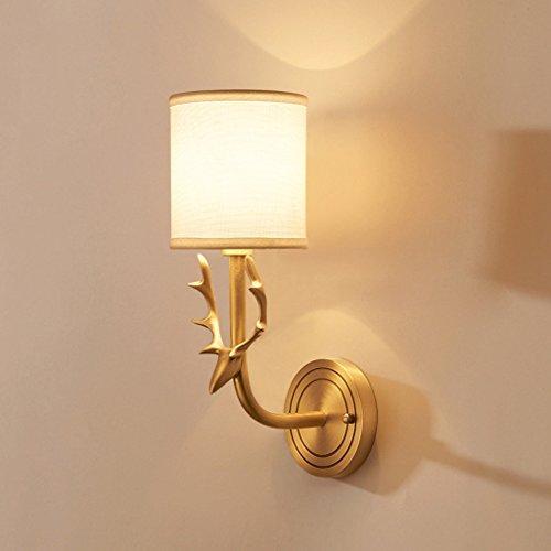 WD Fashion Wall Lamp Bedroom Bedside Lamp Bathroom Mirror Headlight Copper Deer - Mirrors Wall Bathroom Attic Entire
