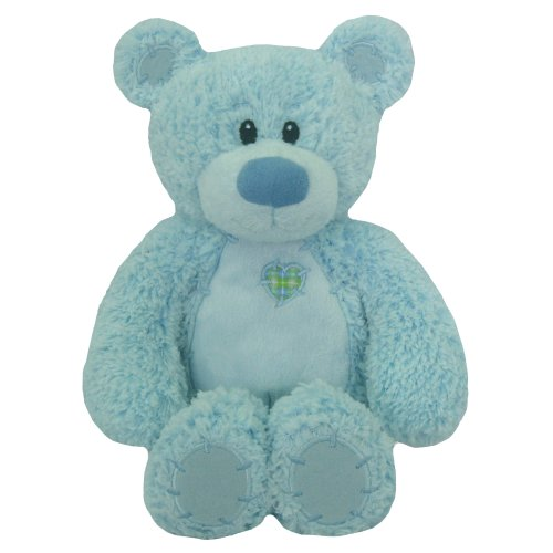 "First & Main Easter  Stuffed Blue Tender Sitting Position Teddy Bear 8"" Plush"