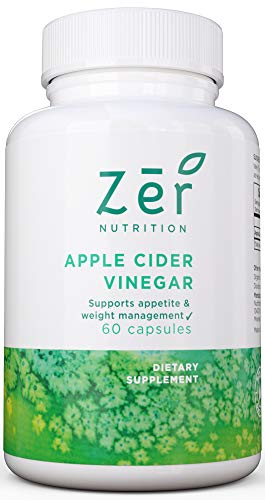 Extra Strength Pure Natural Apple Cider Vinegar Pills for Weight Loss, Detox, Digestion, Cleanse and Appetite Suppressant - Non-GMO Capsules - 60 Day Supply