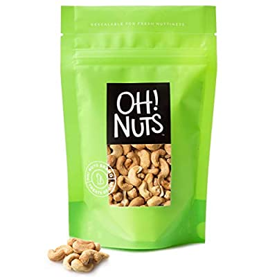 Dry Roasted Cashews Unsalted Oven Baked in Small Batches Without Any Oils Added 2 Pound Bag - Oh! Nuts