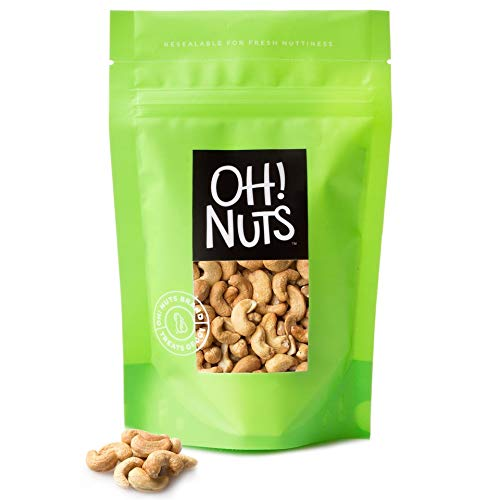 Dry Roasted Cashews Unsalted Oven Baked in Small Batches Without Any Oils Added 2 Pound Bag - Oh! Nuts by oh! Nuts