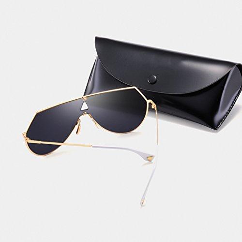 Personalidad sol Gafas One y Reflective Sunglasses Ladies Europa HL Cool Shot Estados de negras Frame Hombres New Street Unidos RRr10q